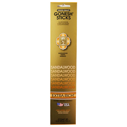 Gonesh Extra Rich Collection Sandalwood - 20 Stick Pack