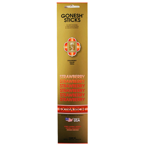 Gonesh Extra Rich Collection Strawberry - 20 Stick Pack