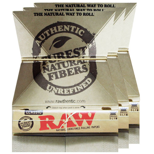 RAW 100% Natural Artesano Slim King Rolling Papers 3 Pack