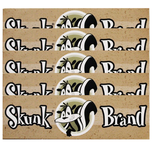 Skunk Brand Hemp 1 1/4 Rolling Papers 5 Pack